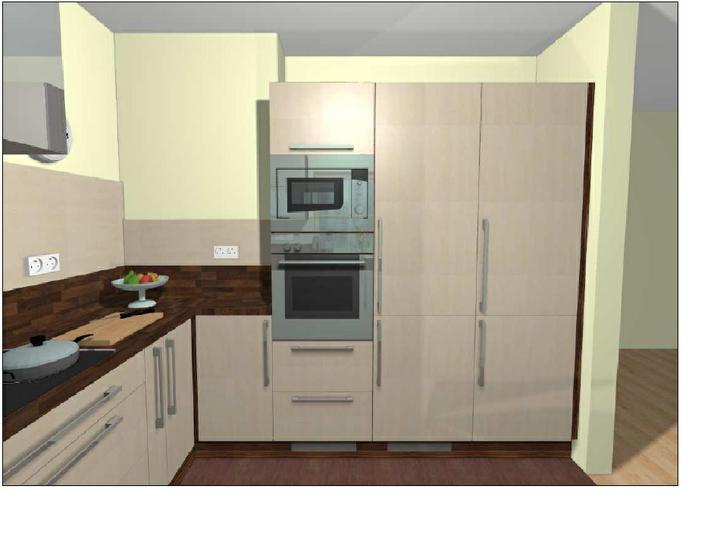 Skrytá lednice vedle jídelní skříně