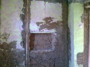 Rovnání zdi v  ložničce