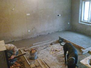 Betonování pro položení dlažby