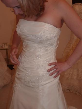 Zkouška šatů - MS Antonie - detail