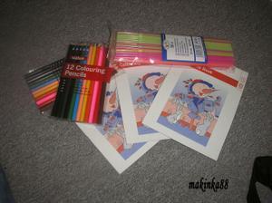 Omalovánky, pastelky a brčka pro děti:-)