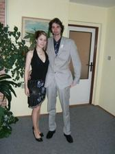 s tygříkem jako svatebčané na svatbě jeho sestry :-))