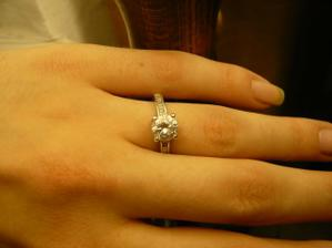 zásnubní prstýnek, stříbro :-))