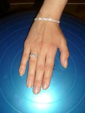 prstýnek stříbro se zirkony, náramek bižu