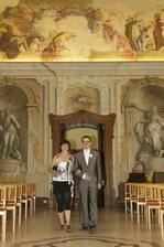..krásný sál na Lazaretní..jako na zámku..
