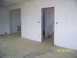 Obývačka a vstupy do kuchyne a chodby