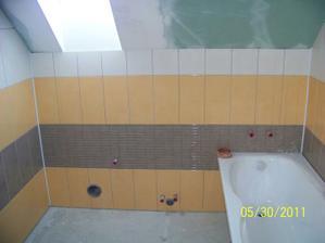 Kúpelňa - ešte chýba dlažba