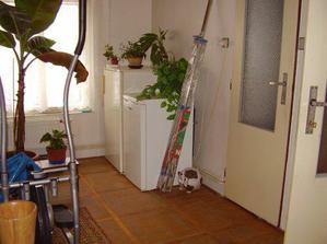 Chodba, okno přijde zmenšit a tam jak jsou mrazáky, tak bude WC