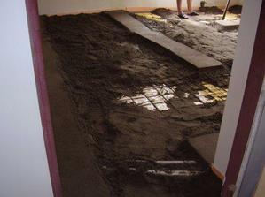 Dělá se beton v obýváku