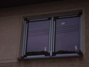 Nová okna, zvenku hnědá tmavý dub, zevnitř bílá