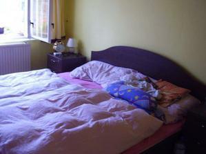 Ložnice přestěhovaná do starého obýváku :-)