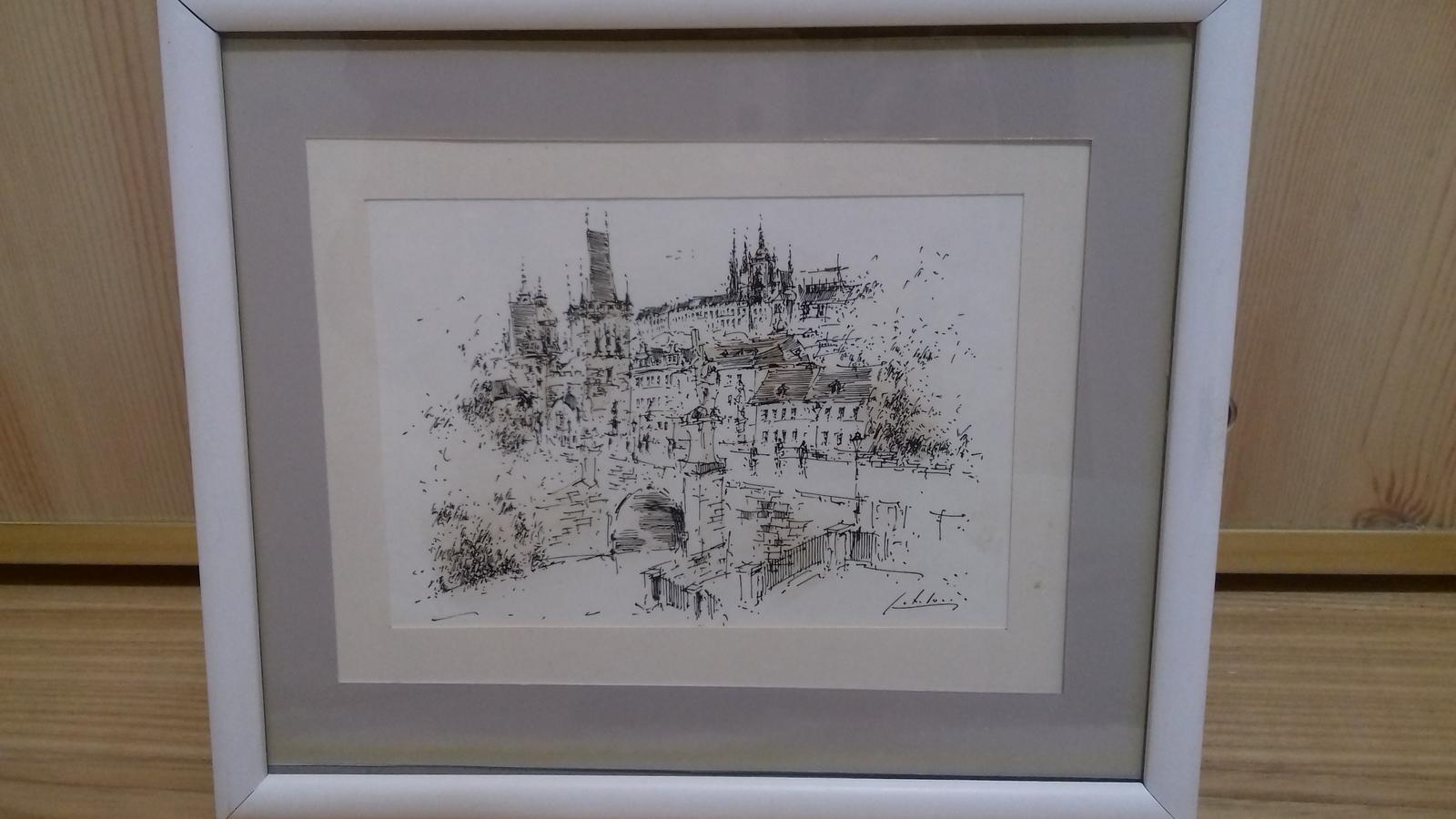 Kresleny obrazok Praha - Obrázok č. 1