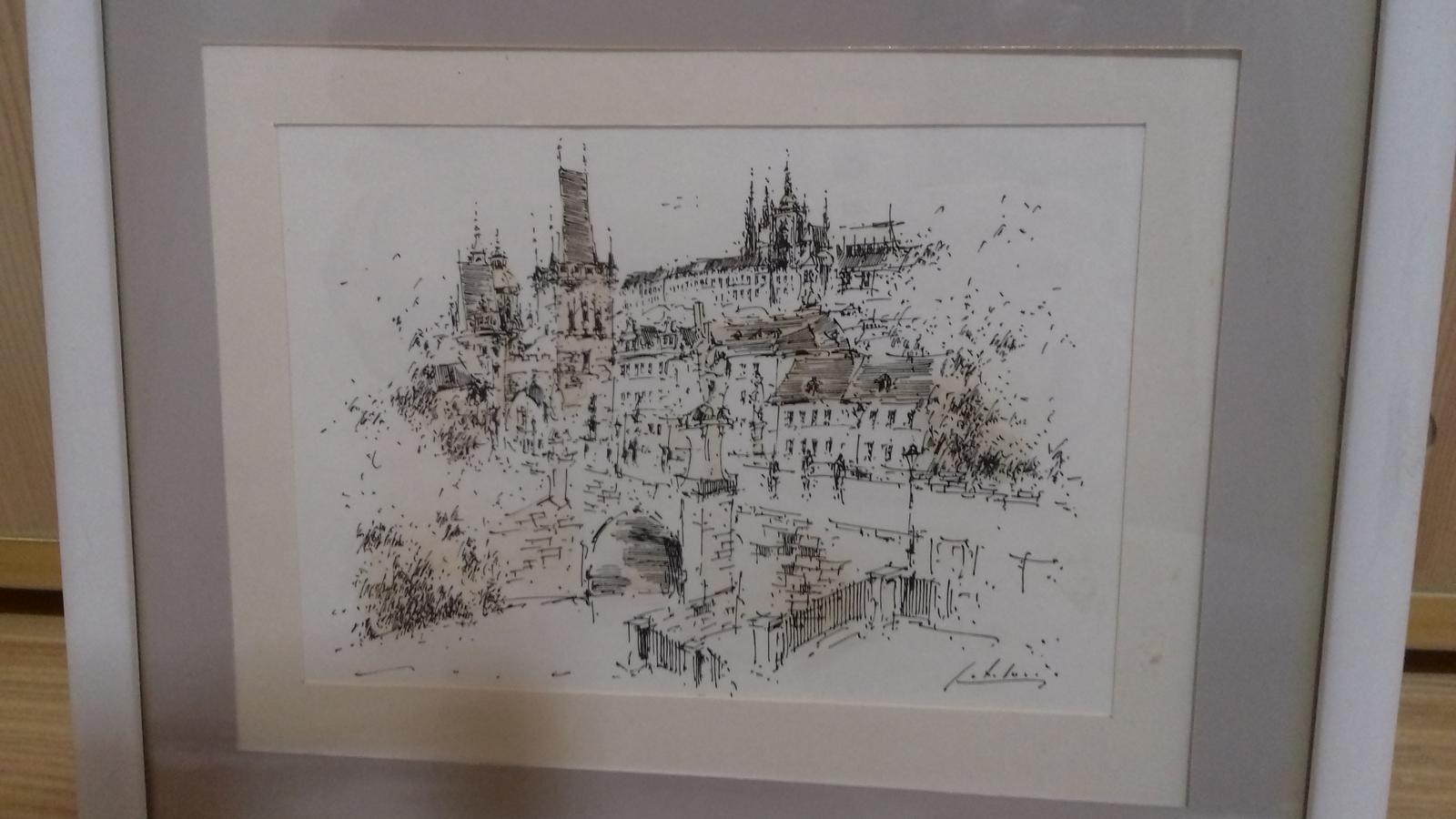 Kresleny obrazok Praha - Obrázok č. 2