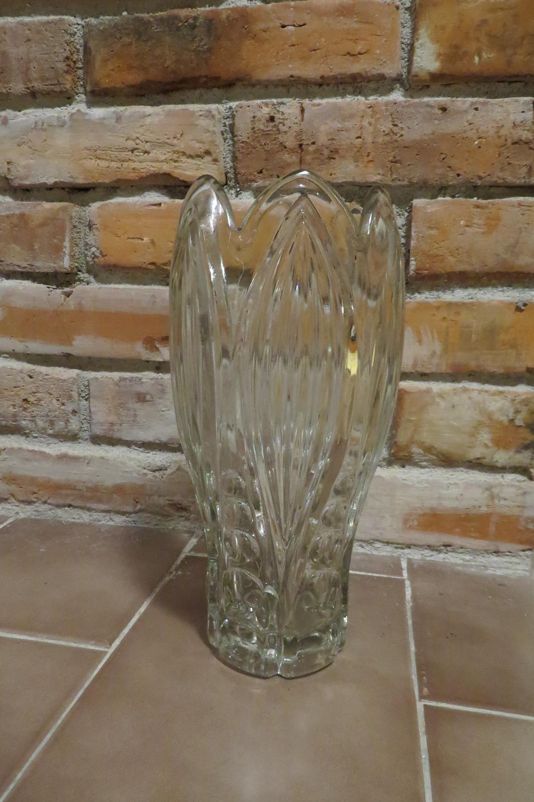 Sklenená veľká  váza - Obrázok č. 1