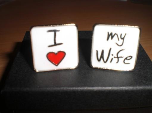 T+I =♥ - manžetové gombíky pre môjho nastávajúceho :)