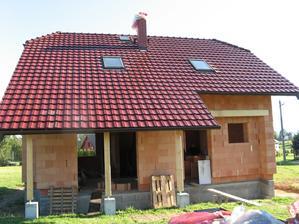 Střecha hotova