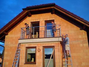 Nerezové zábradlí na balkoně.. Můžeme kolaudovat!