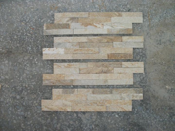 obklady a dlažby z prírodného kameňa (nie betonové a sadrové imitacie) - minipanel golden 40x10x1 cm tvar Z