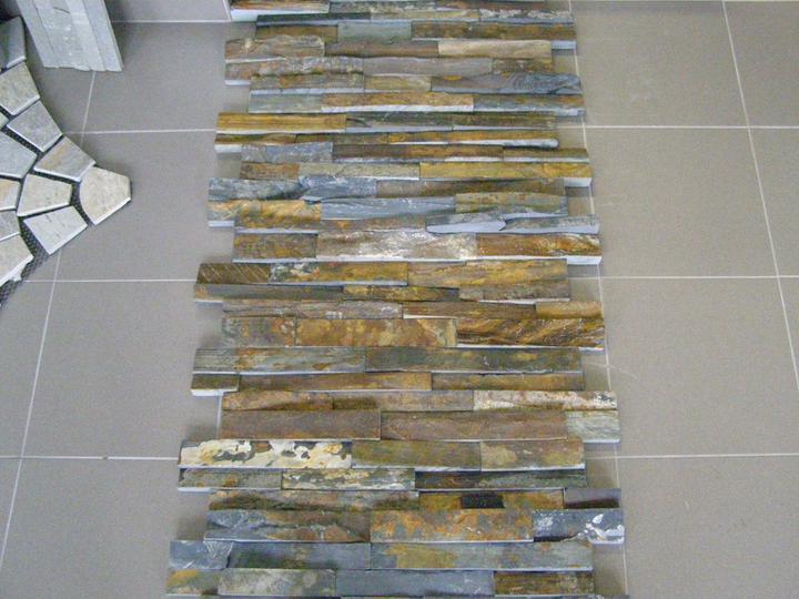 obklady a dlažby z prírodného kameňa (nie betonové a sadrové imitacie) - 38,13.-eur/m2 original kameň (multicolor edge Michel)