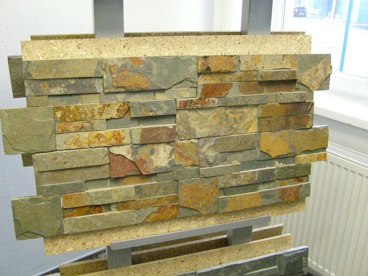 obklady a dlažby z prírodného kameňa (nie betonové a sadrové imitacie) - Multicolor spring štiepaný bridlicový obklad 35x18x1-2 cm