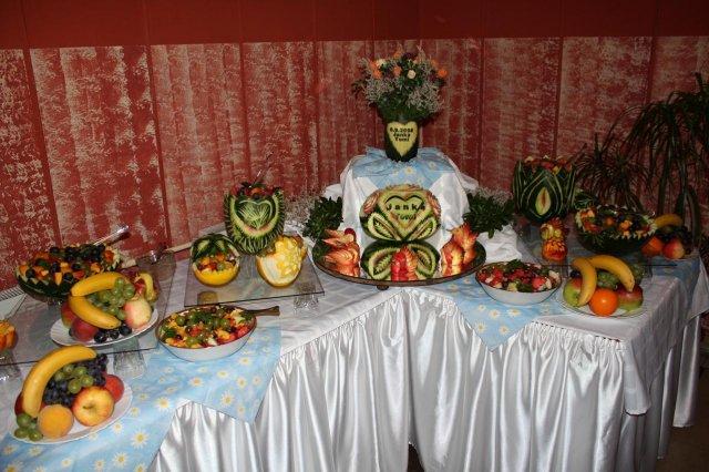Prípravy a výzdoba - vyrezávané ovocie..môj sen