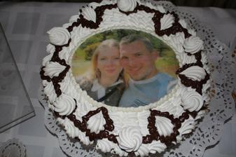 penová torta s fotočkou