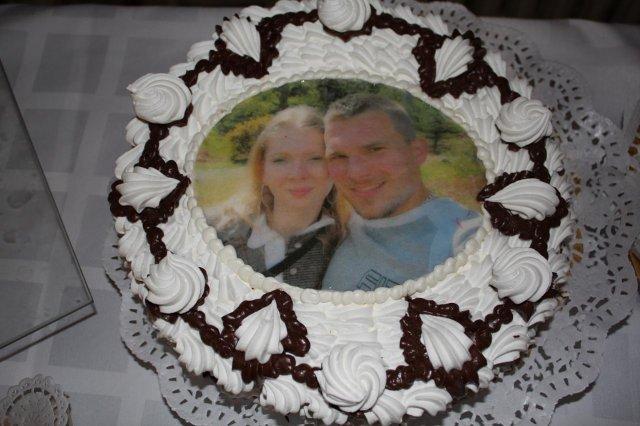 Prípravy a výzdoba - penová torta s fotočkou