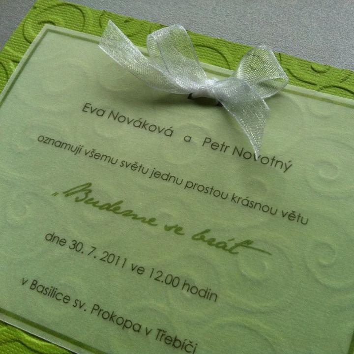 """DIY - svatební oznámení """"Curly"""" - Hotovo!"""
