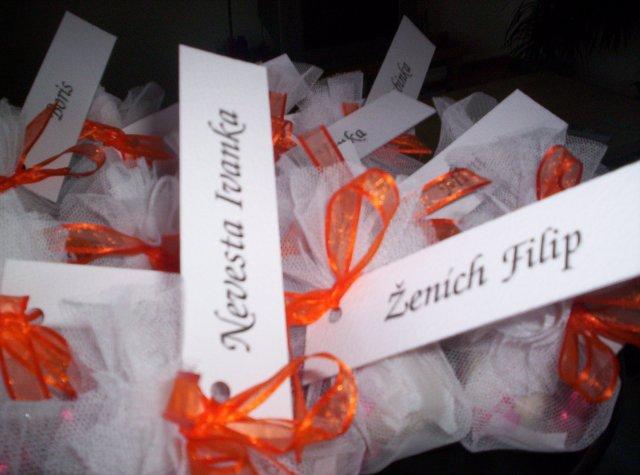 Ivanka a Filip - svadobné balíčky...aj s menovkami