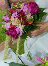 svatební kytička- nádherná