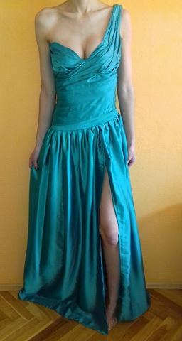 Spoločenské šaty zelené - Obrázok č. 1