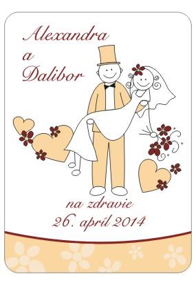 26.04.2014.......a bude svadba - Etikety na flase su uz doma....