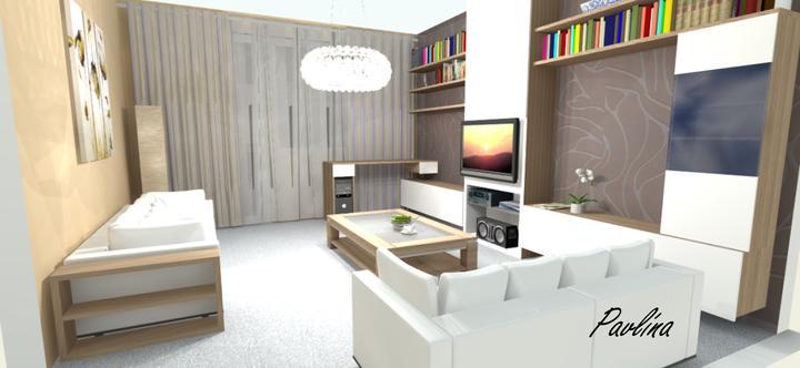 Vizualizácie - rôzne - Verzia pre našu obývačku - pod oknom by mohol byť písací/pracovný stôl