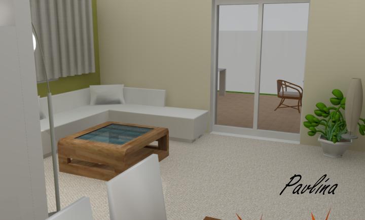 Vizky pre náš ešte nepostavený dom :-) - ešte jedne pohľad od stola :-)  vidno trošku aj terasu...tam sa pozrieme nabudúce :-D