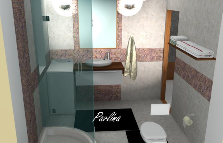 Vizualizácie - rôzne - kúpeľňa na prízemí