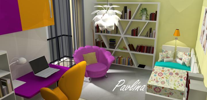 Vizualizácie - rôzne - izba pre našu slečnu na poschodí