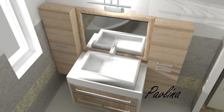 Vizualizácie - rôzne - kúpeľňa na poschodí domu