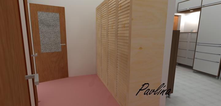 Vizualizácie - rôzne - terajší stav zadnej časti haly, táto skriňa ostane, len ten koberec pôjde časom preč