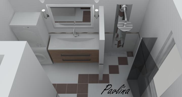 Vizualizácie - rôzne - Jedna kúpeľňa v malých obmenách :-) táto je s murovaným sprchovým kútom