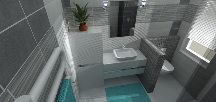 Kúpeľne rôzne I. - pridala som múrik, za ktorým je skryté wc-ko