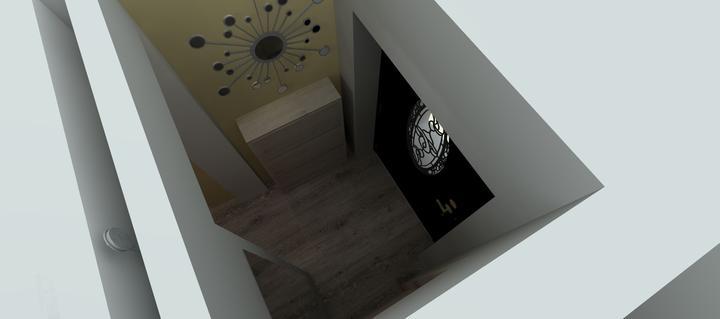 Vizualizácie - rôzne - Vstupná chodbička je veľmi malilinkatá, ale aspoň malý botník by sa dal dať...a zrkadlo
