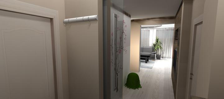 Vizualizácie - rôzne - pohľad od vchodových dverí