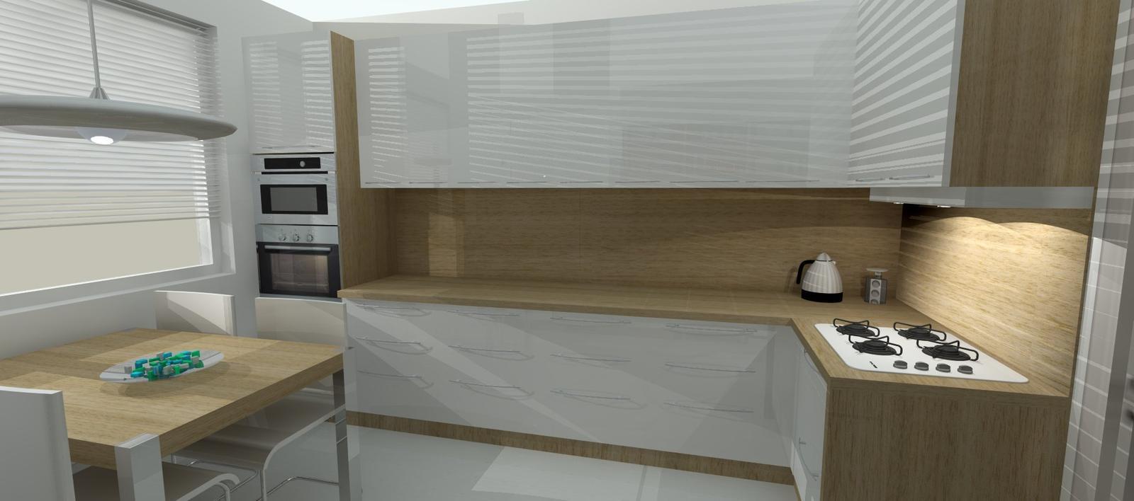 Kuchyne I. - verzia s prehodenou rúrou a chladničkou