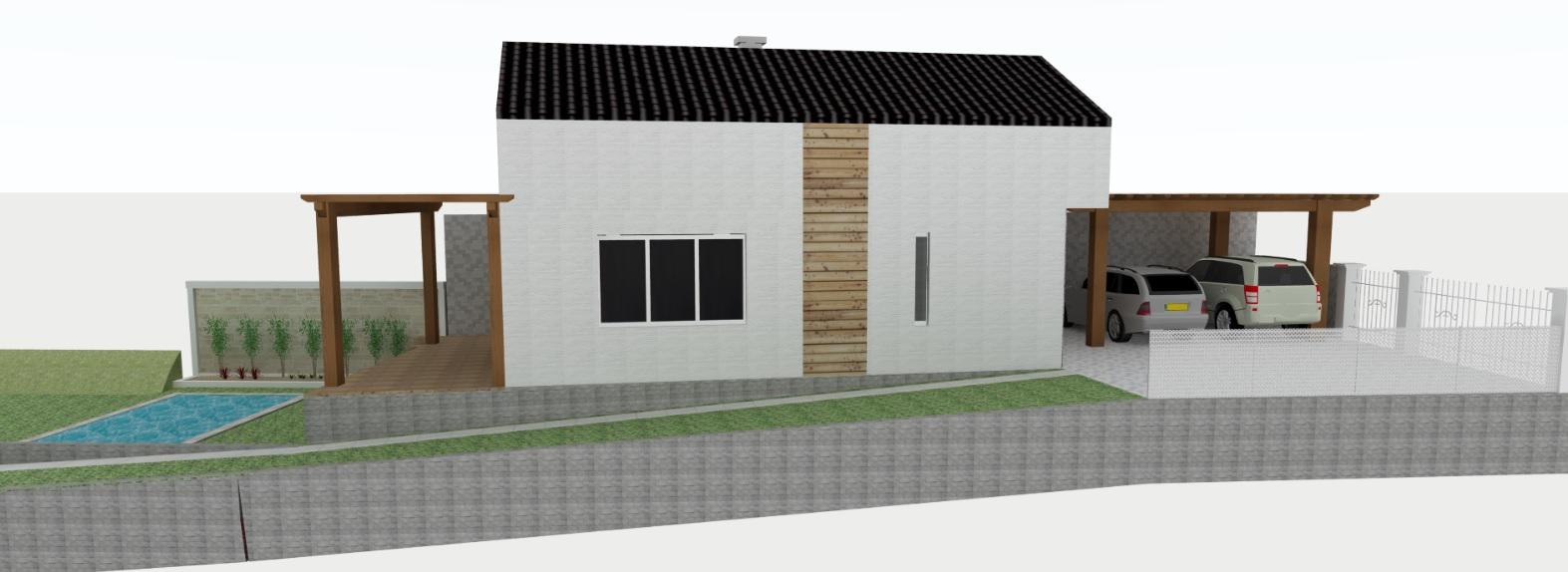 Vizky pre náš ešte nepostavený dom :-) - narýchlo nakreslené...potrebovali sme hlavne pohľad na oporný múr