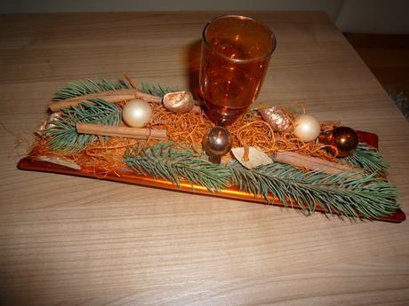 vianočná dekorácia na stol - Obrázok č. 1