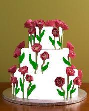 Takže bude nakonec vypadat nějak takhle, akorát, že to budou růžové tulipány... a nahoře figurky.