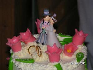 Figurky na svatebním dortíku.