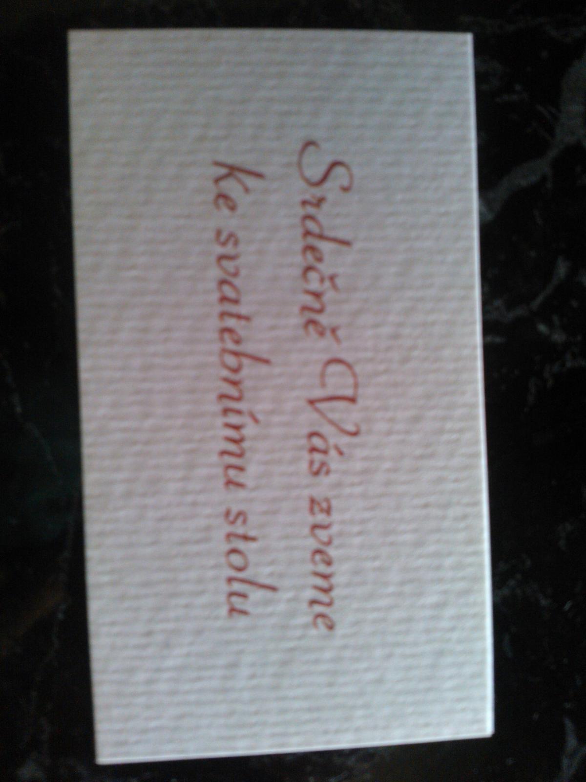 Pozvánka ke svatebnímu stolu - Obrázek č. 1
