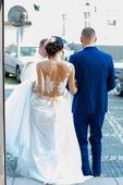Prekrasne svadobne saty cipkovane na mieru, 34