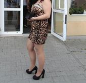 tigrované spoločenské šaty, 40